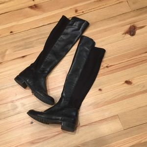 Shoes - Michael Kors Black Leather over the Knee Boot Sz 7